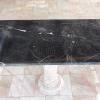 โต๊ะหินอ่อนสี่เหลี่ยม ขนาด กว้าง 60 เซนติเมตร ยาว 120 เซนติเมตร สูง 70 เซนติเมตร สีดำ
