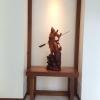 เทพเจ้า กวน อู เรซิ่นสีไม้ สูง 100 cm