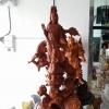 เจ้าแม่กวนอิม เยียบ มังกร เรซิ่นสีไม้ สูง 80 cm