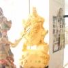 เทพเจ้ากวนอู พ่นทอง เนื้อพ่นทราย ขนาด กว้าง 45 สูง 75 cm