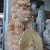 สิงโตปักกิ่ง ขนาด สูง 120 เซนติเมตร กว้าง 40 ยาว 70 เซนติเมตร ( 1 คู่ ) สีส้มเหลือง