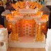 ศาลเจ้าที่ขนาด 27 นิ้ว 888 สีขาวพ่นทอง หินอ่อนหยกขาวจีน