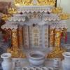 ศาลเจ้าที่ขนาด 27 นิ้ว(รุ่นเจริญศรี) 4 เสา 5 หลังคา 4หงส์ 6มังกร หินขาว พ่นทอง