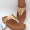 รองเท้า fitflop หนีบลูลู่น้ำตาลขอบทอง/น้ำตาล 490 บาท
