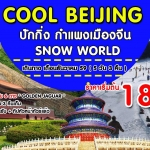 ปักกิ่ง กำแพงเมืองจีน snow world 5 วัน 3 คืน เดือน ธ.ค-ปีใหม่