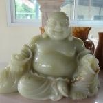 พระสังกัจจายย์ Happy Buddha งานแกะสลักหินอ่อน