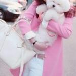 เสื้อคลุมแฟชั่นน่ารัก : เสื้อคลุมแขนยาว สีชมพู สวยหวานน่ารักมากๆค่ะ