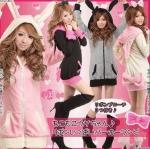 2013 เสื้อคลุมกันหนาว มีฮู้ดหูกระต่ายน้อยน่ารัก สีชมพู ซิปหน้า มีหางเป็นโบว์  สวยน่ารักมากๆค่ะ