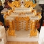 ศาลเจ้าที่ขนาด 27 นิ้ว 888 สีขาวพ่นทอง หินอ่อนหยกขาวจีน thumbnail 4