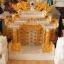 ศาลเจ้าที่ขนาด 27 นิ้ว 888 สีขาวพ่นทอง หินอ่อนหยกขาวจีน thumbnail 5