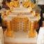 ศาลเจ้าที่ขนาด 27 นิ้ว 888 สีขาวพ่นทอง หินอ่อนหยกขาวจีน thumbnail 2