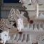 ศาลเจ้าที่หินอ่อน (ตี่จู้หินอ่อน ตี่จู้เอี๊ยะ) ขนาด 27 นิ้ว (ฐานยกสูง 20 cm ) 4 เสา 5 หลังคา 8ปลา 8หงส์ 8 มังกร หินสีเทา (หงษ์หางสวย) thumbnail 6