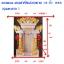 ศาลเจ้าที่ขนาด 18นิ้ว(รุ่นโชคลาภ) 2 เสา 3 หลังคา หินสีขาวพ่นทอง thumbnail 2