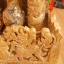 ศาลเจ้าที่หินอ่อน (ตี่จู้หินอ่อน ตี่จู้เอี๊ยะ) ขนาด 27 นิ้ว 888 4 เสา 5 หลังคา หินสีลายไม้ thumbnail 6