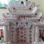 ศาลเจ้าที่จีน(ตี่จู้เอียะ)ขนาด 27 นิ้ว (มั่งมีศรีสุข)888 หินอ่อนสีขาวอักษรแดง thumbnail 12