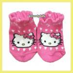 Hello Kitty ถุงเท้าเด็ก ถุงเท้าเด็กแมวคิตตี้ของแท้ ถุงเท้าเด็กหญิง KT Sanrio จากเคาเตอร์ต่างประเทศ