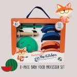 Fox and Freinds ชุดเตรียมอาหารเด็ก 8 ชิ้น สีเขียว BPA Free