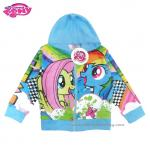 (Size10)Jacket My Little Pony for Girl เสื้อแจ็คเก็ต เสื้อกันหนาว เด็กผู้หญิง สีฟ้า สกรีนลาย มายลิตเติ้ลโพนี่ รูดซิป มีหมวก(ฮู้ด) ใส่คลุมกันหนาว กันแดด ใส่สบาย ลิขสิทธิ์ฮาสโบแท้ โพนี่แท้ (สำหรับเด็ก10-11 ปี)