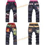 กางเกงเด็ก คุณภาพดี กางเกงขายาวเด็ก กางเกงลำลองเด็ก กางเกงยีนส์เด็ก กางเกงขายาวเอวยืด ลายการ์ตูน 2 - 8 ขวบ