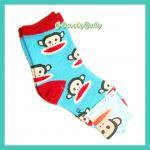 ถุงเท้าเด็ก ถุงเท้าพอลแฟรงค์ ลายลิง น่ารัก ขนาด (XL) 18-21 cm