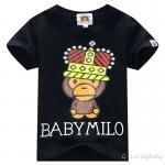 เสื้อเด็ก แบรนด์เนม BAPE ของแท้ เสื้อ T-Shirt เด็ก แขนสั้น ลายลิง น่ารักๆ size 110