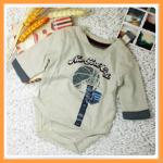 เสื้อผ้าเด็ก Cherokee ชุดบอดี้สูทเด็กชายแขนยาวสีกากี น่ารัก