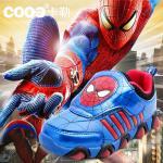 รองเท้าเด็ก พื้นยางกันลื่น รองเท้าแฟชั่นเกาหลี รองเท้ากีฬาเด็ก สไตล์สปอร์ต สไปเดอร์แมน spiderman baby shoes รองเท้าเด็กชาย รองเท้าเด็กเล็ก LED ไฟกระพริบ พร้อมส่ง แนะนำสำหรับเด็ก 4-8 ขวบ