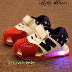รองเท้าเด็ก พื้นยางกันลื่น รองเท้าเด็กมีไฟ LEDไฟกระพริบ สไตล์สปอร์ต นิวบาลานซ์ หนังแท้ รองเท้าเด็กชาย รองเท้าเด็กหญิง รองเท้าเด็กวัยหัดเดิน รองเท้าเด็กวัยเตาะแต๊ะ พร้อมส่ง