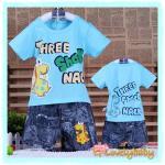 เสื้อผ้าเด็ก ชุดเด็กชาย ชุดลำลองเด็กชาย ชุดเด็กอ่อนชาย เสื้อยืดคอกลมเด็กผู้ชายพร้อมกางเกงเด็กผู้ชายเข้าเซต เหมาะกับเด็กอายุ 0 - 3 ขวบ