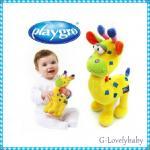 ของเล่นเด็ก ตุ๊กตาเด็ก Playgo Deer รูปกวางสีเหลือง บีบแล้วมีเสียงปี๊ปๆในตุ๊กตา น่ารัก Playgoแท้