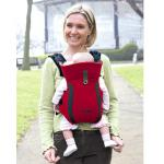 เป้อุ้มเด็ก Tomy Freestyle Premier Carrier สีแดง นำเข้าจาก อังกฤษ improved parent and baby comfort 100% cotton