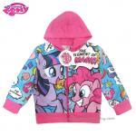 (Size10)Jacket My Little Pony for Girl เสื้อแจ็คเก็ต เสื้อกันหนาว เด็กผู้หญิง สีชมพู สกรีนลาย มายลิตเติ้ลโพนี่ รูดซิป มีหมวก(ฮู้ด) ใส่คลุมกันหนาว กันแดด ใส่สบาย ลิขสิทธิ์ฮาสโบแท้ โพนี่แท้ (สำหรับเด็ก10-11 ปี)