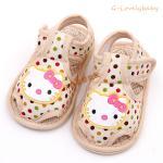 รองเท้าเด็กวัยหัดเดิน รองเท้าเด็ก รองเท้าเด็กทารก รองเท้าเด็กนุ่มพื้นหนังกันลื่น (0-1ขวบ) คิตตี้ KT kitty size 14