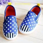 รองเท้าเด็ก รองเท้าผ้าใบเด็ก รองเท้าเด็กเล็ก-รองเท้าเด็กโต ลายดาว-ลายเส้น พื้นยางกันลื่น