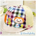 หมวกเด็ก หมวกเด็กอ่อน หมวกเด็กสไตล์เกาหลี ลายการ์ตูนลิง สามมิติ - เหลืองอ่อน