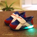 รองเท้าเด็ก พื้นยางกันลื่น รองเท้าเด็กมีไฟ LEDไฟกระพริบ สไตล์สปอร์ต สไตล์ไนกี้ หนังแท้ รองเท้าเด็กชาย รองเท้าเด็กหญิง รองเท้าเด็กวัยหัดเดิน รองเท้าเด็กวัยเตาะแต๊ะ พร้อมส่ง อายุ 0-2ขวบ