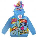 เสื้อแจ็คเก็ต My Little Pony เสื้อกันหนาว เด็กผู้หญิง สีฟ้า รูดซิป มีหมวก(ฮู้ด) ใส่คลุมกันหนาว กันแดด สุดเท่ห์ ใส่สบาย ลิขสิทธิ์แท้ (ไซส์ S)