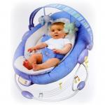 Joy Maker Musical rocker Baby Bouncer Newborn สีฟ้า เปลสั่นได้ มีเพลงกล่อมเพราะๆ พร้อมของเล่น สำหรับน้องเเรกเกิด ถึง 9 เดือนค่ะ