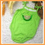 เสื้อผ้าเด็ก ชุดบอดี้สูทเด็ก Wonderkids บอดี้สูทสายเดี่ยวผูกโบว์ ปักลายแตงโม ขนาด 18 เดือน