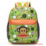 Kids Backpacks , Kindergarten Backpacks กระเป๋าเป้เด็ก กระเป๋าเด็กลายการ์ตูน หน้าลิง กระเป๋าเป้เด็ก กระเป๋าสำหรับเด็กอนุบาล น่ารักๆ สีเขียว
