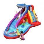 Happy hop สไลเดอร์เป่าลม water slides Shark Club Bruce Wet & Dry Water Slide รูปฉลามน่ารัก