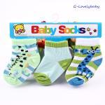 ถุงเท้าเด็ก ถุงเท้าเด็กทารก ถุงเท้าเด็กอ่อน ถุงเท้าเด็กเล็ก แพค 3 คู่ ขนาด 6-18 เดือน แบบ A
