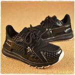 รองเท้าเด็ก พื้นยางกันลื่น รองเท้าแฟชั่นเกาหลี ลายหนังสีดำ สไตล์สปอร์ต รองเท้าเด็กชาย รองเท้าเด็กหญิง อายุ 4-6 ขวบ