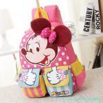 กระเป๋าเป้เด็ก กระเป๋าเด็กลายการ์ตูน กระเป๋าเป้เด็ก กระเป๋าสำหรับเด็กอนุบาล น่ารักๆ Minnie Mouse ชมพู
