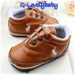 Polo Pre-walker Baby Shoes รองเท้าเด็ก รองเท้าเด็กแบรนด์เนม รองเท้าเด็กชาย รองเท้าเด็กชายวัยหัดเดิน ยี่ห้อ Polo Size 2(6-12M)