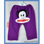 เสื้อผ้าเด็ก กางเกงเด็ก หน้าลิง สีม่วง L
