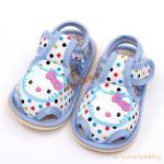 รองเท้าเด็กวัยหัดเดิน รองเท้าเด็ก รองเท้าเด็กทารก รองเท้าเด็กนุ่มพื้นหนังกันลื่น (0-1ขวบ) คิตตี้ KT kitty size 13