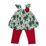 เสื้อชุดเด็กหญิงน่ารัก ขนาด 3 6 9 เดือน 2 ชิ้น เสื้อ กางเกง