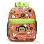 Kids Backpacks , Kindergarten Backpacks กระเป๋าเป้เด็ก กระเป๋าเด็กลายการ์ตูน หน้าลิง กระเป๋าเป้เด็ก กระเป๋าสำหรับเด็กอนุบาล น่ารักๆ สีส้ม