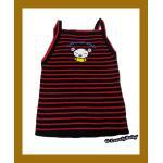 เสื้อผ้าเด็ก ผ้าไหมพรม แบบสไตล์เกาหลี สีแดงดำ + งานปักลายการ์ตูน อายุ3-5ขวบ